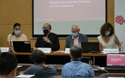 Les deu Càritas catalanes atenen un 63% més de persones en els programes de primera resposta  a la COVID-19