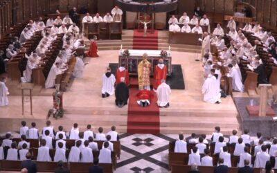 Benedicció del P. Manel Gasch OSB com a nou Abat de Montserrat