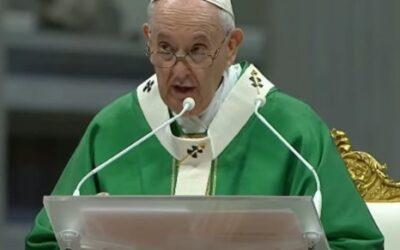 Homilia del papa Francesc a la Missa d'obertura del Sínode sobre la sinodalitat
